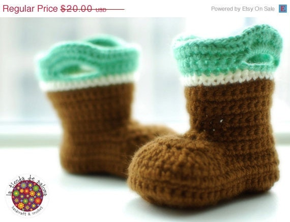 HUGE SALE READY To Ship - Crochet baby booties