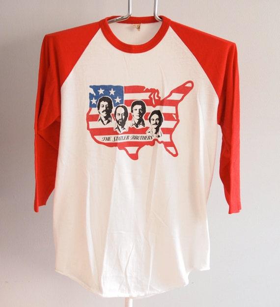 Statler Brothers Large Raglan Vintage Baseball Half Sleeve Shirt