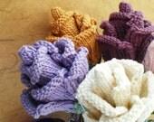 PDF Knit Flower Pattern - Rose Bud