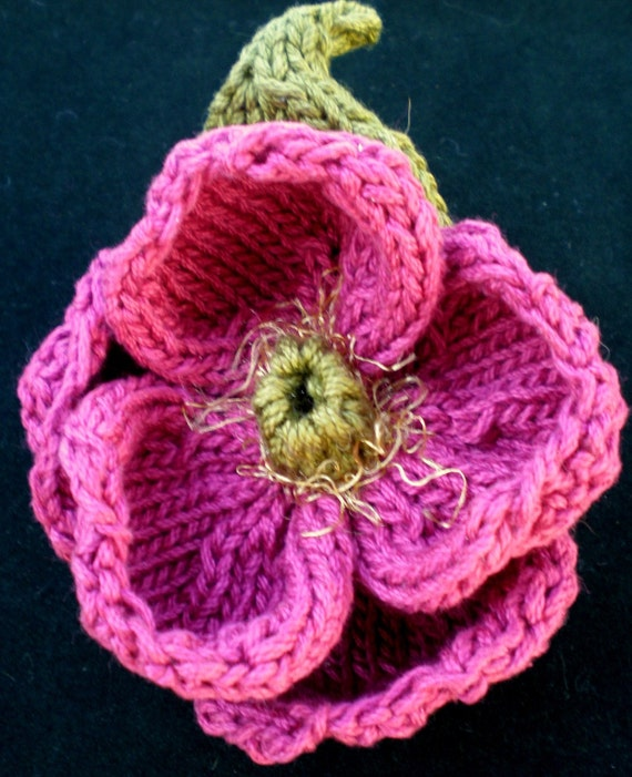 PDF Knit Flower Pattern - Peony Knit Flower
