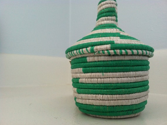African sisal basket- small