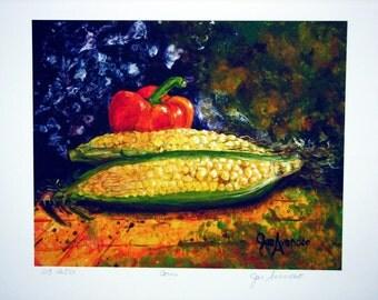 Summer Corn Print