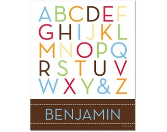 Personalized Alphabet Poster - School Days Primary