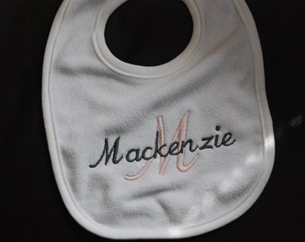 Personalized Baby Bib - Initial with name