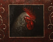 Rooster Animal Icon (Original Oil Painting)