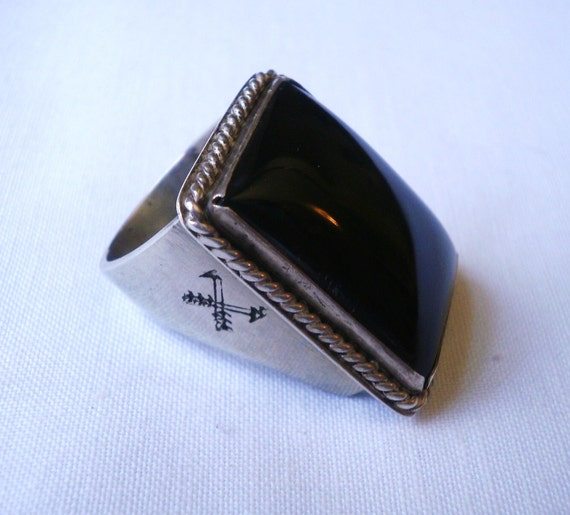Vintage Men's Southwest Sterling Silver Ring