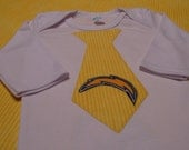 Items Similar To San Diego Chargers Tie Onesie Or Shirt