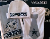 Dallas Cowboys Tie Onesie or Shirt Available 0-3 months through Size 10/12