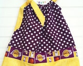 Los Angeles Lakers Pillowcase Dress Available 0-3 Months through Size 5/6
