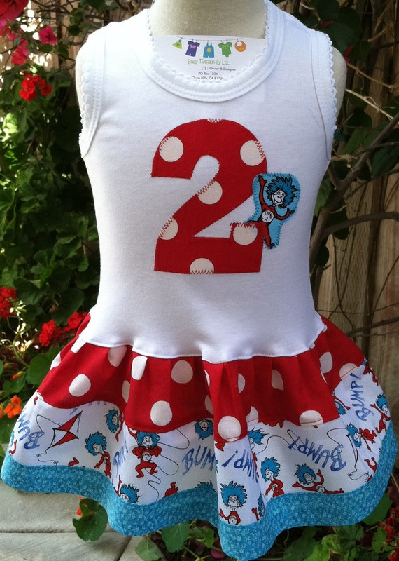 Number Thing Two Party Dress Available 0-3 Months Through 6-8