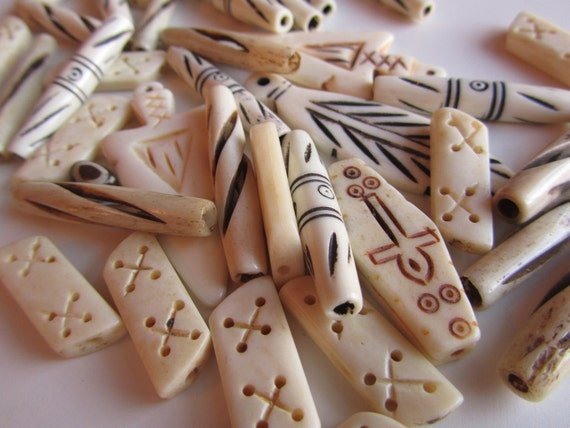 Beads - Carved Bone
