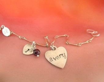Baby's First Charm Bracelet, Little Girls Birthday Gift, birthday girl jewelry, first birthday jewelry, delicate baby bracelet, 1st birthday