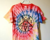 Goats Head Satanic Tie-Dye (Rainbow)