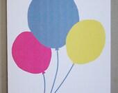 Birthday Balloons birthday card
