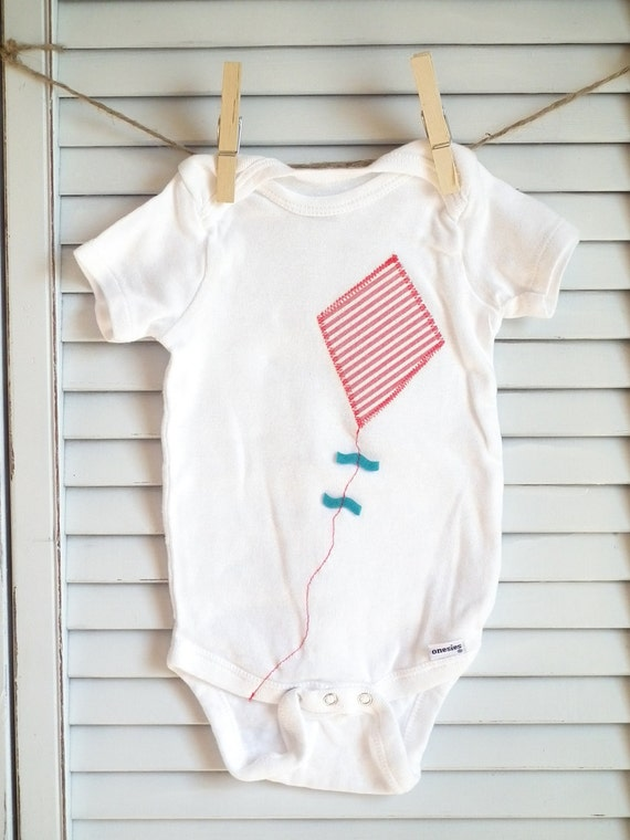Kite-On-a-String Onesie: Blueberry Edition