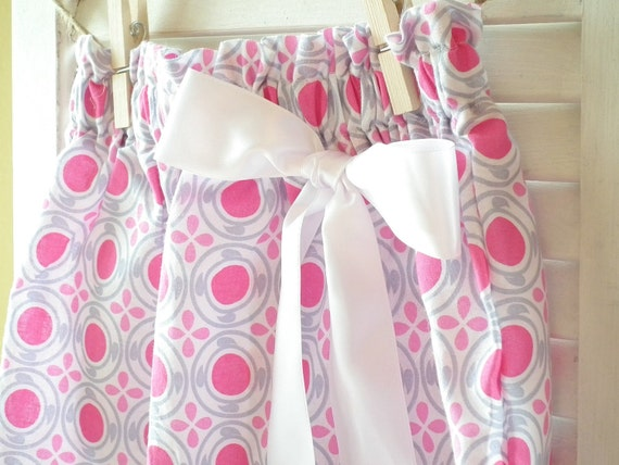 Girls Pink and Gray Skirt, Size 4T, Ready to Ship