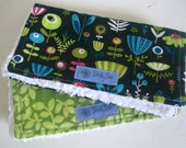 SALE Baby Girl Chenille Burp Cloth Set Erin McMorris Park Slope