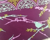 Purple and Teal Aviary 2 Bird iPad or Tablet Case - Windows Surface, Nook HD +
