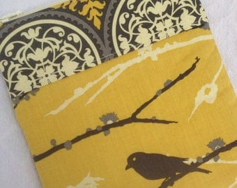 Gray & Yellow Aviary 2 Bird eReader or iPad Mini Case