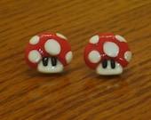 Super Mario bros 1up Mushroom Earrings