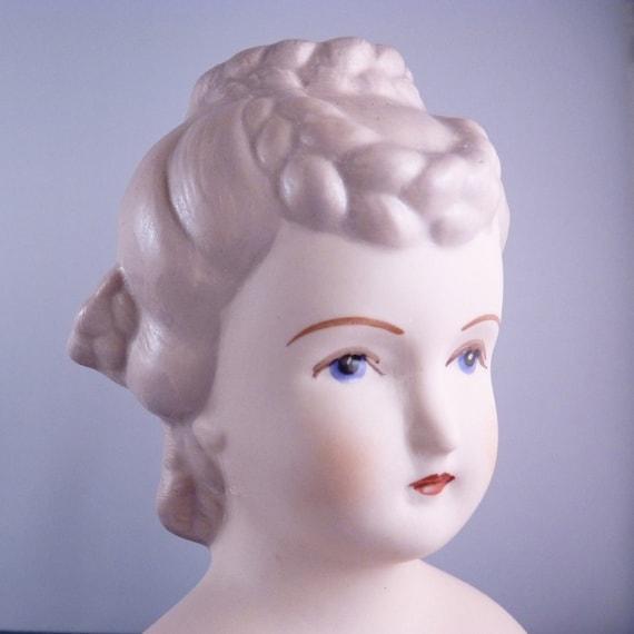 Lovely Platinum Blonde- Vintage Porcelain Doll Head