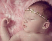 Secret Garden Halo- flower headband, newborn photo prop, babies, toddler, girls, women