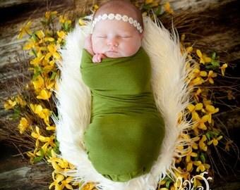 Daisy headband-newborn, babies,spring, Easter, photo prop