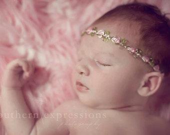 Secret Garden Halo- flower headband, newborn photo prop, babies, toddler, girls, women