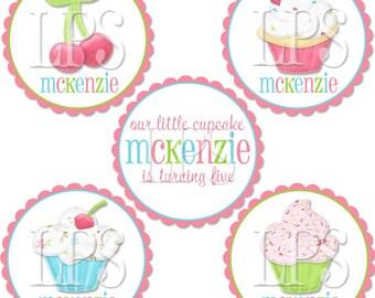 Sweet Shoppe Cupcake Toppers / Label / Tags PDF Digital Printable File