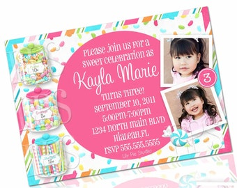 Sweet Shoppe Birthday Party Invitation PRINTABLE DIGITAL File