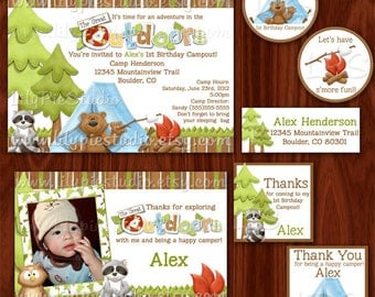 Camping the Great Outdoors Themed Printable Party Package