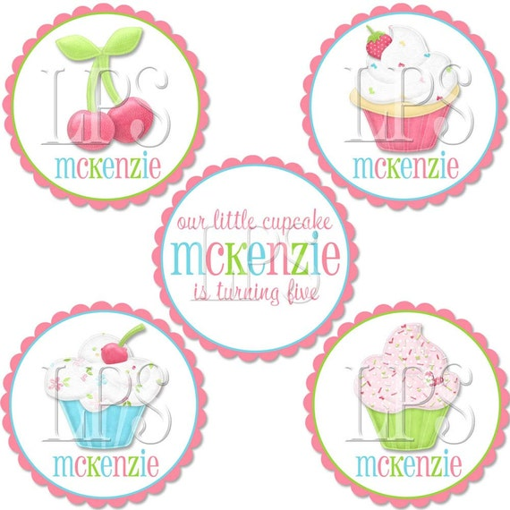 Sweet Shoppe Cupcake Toppers / Label / Tags PDF Digital Printable File