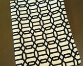 iPad Slip Cover Creme and Black Geometric Print with Fun Chef Lining