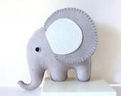 Grey Felt Elephant PDF Pattern