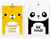 Children Decor Good Manners Flash Cards, Kids Wall Art set of 15 in 4 x 6 , Children Room Decor, Nursery Art, Classroom Decor