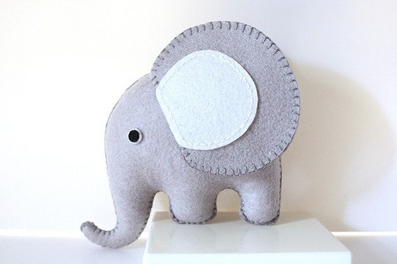 Grey Felt Elephant PDF Pattern
