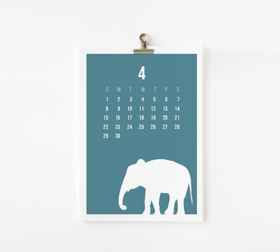 Reserved for Ana - Calendar Sale - Wild Animal 2012 Calendar