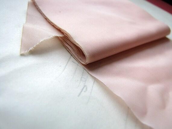 length of antique ribbon - Victorian - pink silk taffetta