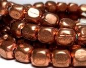Copper Spacers - cornerless cube beads in Copper 5mm 10pcs