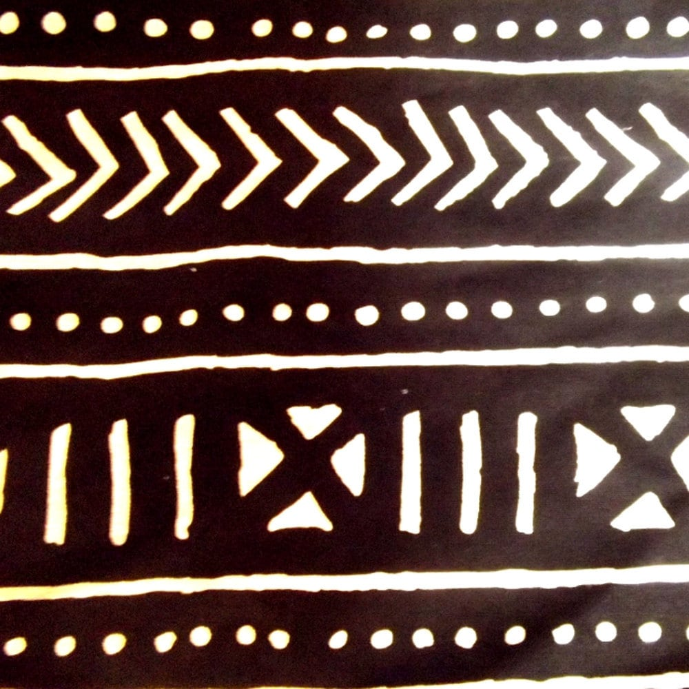 African Mud Cloth Type Fabric Woven 1 2 Yard
