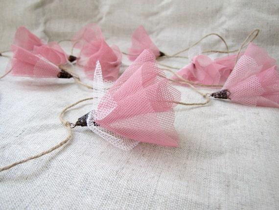 CUSTOM ORDER Pink blossom garland, wedding decoration, garden party, spring décor,