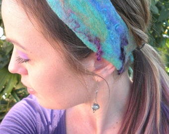 Felt Headband in Rainbow Brights