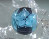 Crazy Flower Sale -flower bead 50% off no coupon needed - blue bead - SRA