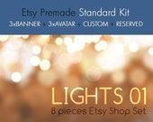 Lights 01 - OOAK Etsy premade shop standard kit - 8 pieces