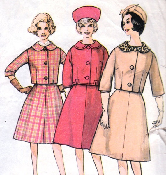 1960s Suit in Three Sizes Vintage Sewing Pattern - Simplicity 4136 Bust 34