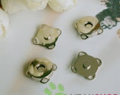 18mm Nickel Sew on Magnetic Snaps / Closures / Buttons - 5 Sets