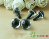 12mm Clear Safety Eyes for Cat / Plastic Eyes - 5 Pairs