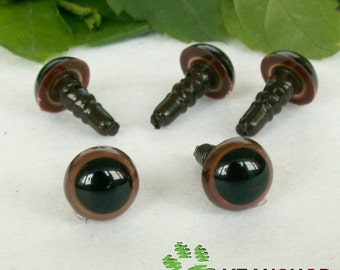 8mm Brown Safety Eyes / Plastic Eyes - 10 Pairs