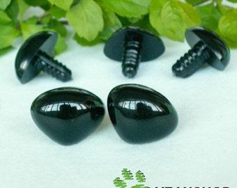 17mm Black Triangle Safety Nose / Plastic Nose - 5pcs