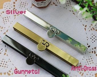 11 cm / 4.3 inch Straight Channel Wallet Frame (with screws) - Silver / Antique Brass / Gunmetal